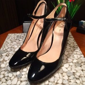 Modern Vintage Leather/Patent Leather Mary Janes